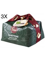 (3 PANETTONI X 1000g) Filippi - Apple and Cinnamon