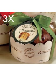 (3 PANETTONI X 350g) Flamigni - Panettone Classic Handmade