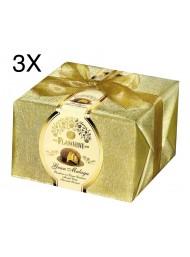 (3 PANETTONI X 950g) Flamigni - Gran Malaga - Catalan Cream