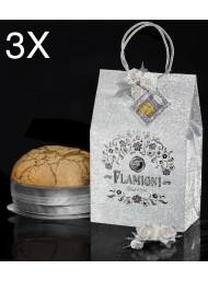 (3 PANETTONI X 1000g) Flamigni - Bag Moscato