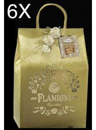 (6 PANETTONI X 1000g) Flamigni - Bag Almond Glazed