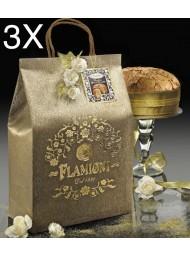 (3 PANETTONI X 1000g) Flamigni - Bag Chocolate