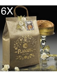 (6 PANETTONI X 1000g) Flamigni - Bag Chocolate