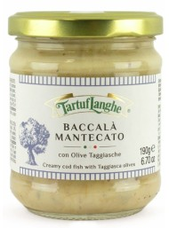 (3 PACKS) TartufLanghe - Creamy cod fish with taggiasca olives - 190g