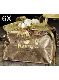 (3 PANETTONI X 1000g) Flamigni - Gocce di Cioccolato - Linea Oro