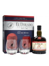 El Dorado - Demerara - 12 years - Box with 2 glasses - 70cl