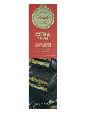 Venchi - Brittle Nougat And Rhum Cream Covered With Extra Dark Chocolate - 200g