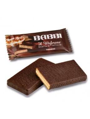 Babbi - il Waferone - Ricetta di Attilio - Wafers con crema al pistacchio ricoperto di cioccolato bianco - 30g