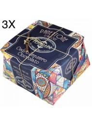 (3 PANETTONI X 950g) Perbellini - Panettone Cedro, Zenzero e Cioccolato