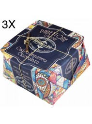 (3 PANETTONI X 950g) Perbellini - Panettone Ginger, Chocolate and Cedar