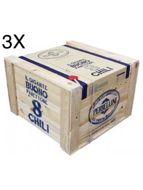 (3 PANETTONI X 8 Kg) Perbellini - Panettone in cassa