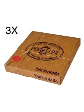 (3 BOXES X 350g) Perbellini - Sbrisolada - Sbrisolona Classica di Mantova