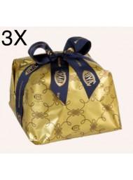(3 PANETTONI X 1000g) Cova - Panettone con Gocce di Cioccolato Fondente
