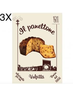 (3 PANETTONI X 1000g) Corso101 - Il Panettone Tradizionale