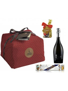 "Special Bag - Panettone Craft ""Fiaconaro"", Prosecco, Nougat and Lindt Chocolate"