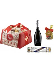 "Special Bag - Panettone Craft ""Filippi"", Prosecco, Nougat and Lindt Chocolate"