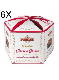 (6 PANETTONI X 1000g) Bonifanti - Panettone Classico Glassato