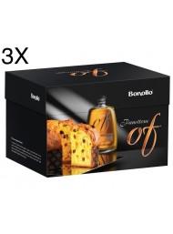 Bonollo - Panettone with Grappa Of Amarone - 3 X 1000g