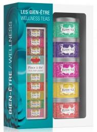 KUSMI TEA - WELLNESS TEA ASSORTMENT - WITH INFUSER 5 X 25G