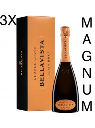 (3 BOTTIGLIE) Bellavista - Alma Gran Cuvée Brut Magnum - NEW AIR ON WINE - Franciacorta - Astucciato - 150cl