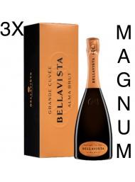 (3 BOTTLES) Bellavista - Alma Gran Cuvée Brut - Gift Box - Franciacorta - Magnum - 150cl