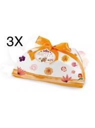 (3 EASTER CAKES X 1000G) ALBERTENGO - COLOMBA APRICOT