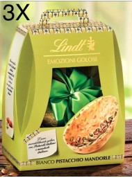 (3 EGGS X 400g) Lindt - White Chocolate with salted almonds and pistachios