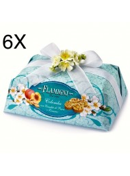 (6 EASTER CAKES X 1000g) FLAMIGNI - PEACH AND GINGER - 1000g - NEW
