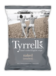 Tyrrels - Potato Crisps No Salt -150g