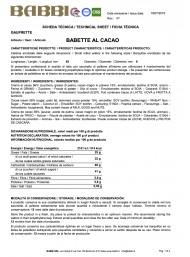 Babbi - Babette al Cacao - 300g
