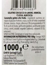 1000g - Horvath - Lindt -  Gelatine di Frutta - Limone, Ciliegia, Albicocca e Arancia