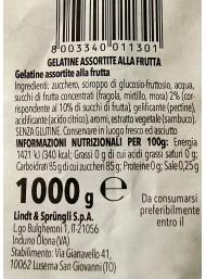 1000g Horvath - Lindt -  Mini Gelatine di Frutta - Fragola, Mirtillo, Mora - NOVITA'