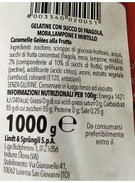 1000g - Horvath - Lindt -  Gelatine di Frutta - Lampone, Fragola, Mirtillo, Mora