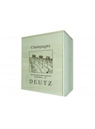 Cassetta Legno Champagne Deutz Con Coperchio