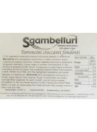 Sgambelluri - Torroncini Ricoperti di Cioccolato Fondente - 500g