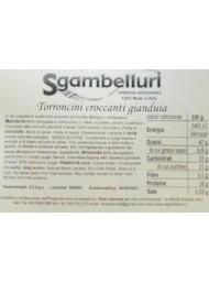 Sgambelluri - Torroncini Ricoperti di Cioccolato al Gianduja - 1000g