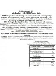 Guido Gobino - Mini Foglio - Nocciolato Gianduja 300g.
