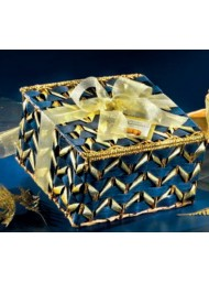 Flamigni - Sugar Iced Panettone - Blue and gold - Hatbox - 750g