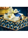 Flamigni - Sugar Iced Panettone - Blue and gold - Basket - 750g