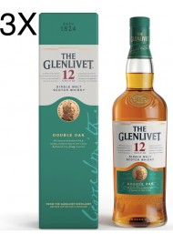 (3 BOTTIGLIE) The Glenlivet - Double Oak Single Malt Scotch Whisky - 12 anni - astucciato - 70cl