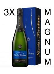(3 BOTTLES) Nicolas Feuillatte - Brut Réserve - Champagne - 150cl - Magnum Gift box