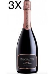 (3 BOTTIGLIE) Maso Martis - Extra Brut Rose' Millesimato 2017 - Trento DOC - 75cl