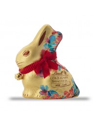 Gold Bunny - Milk Chocolate - 100g - Flowers