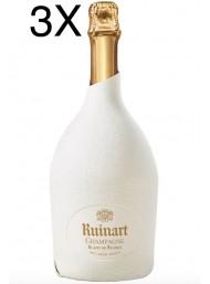 (3 BOTTLES) Ruinart - Blanc de Blancs - The Second Skin Case - 75cl