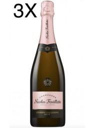 (3 BOTTLES) Nicolas Feuillatte - Reserve Exclusive Rose' - Champagne - 75cl