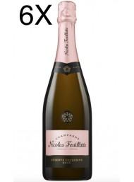 (6 BOTTLES) Nicolas Feuillatte - Reserve Exclusive Rose' - Champagne - 75cl