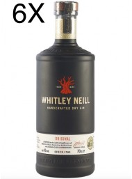 (3 BOTTIGLIE) Whitley Neill - Original - Handcrafted Dry Gin - 70cl