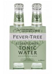 24 BOTTIGLIE - Fever Tree - Elderflower - Fiori di Sambuco - Premium Natural Mixers - Acqua Tonica - 20cl