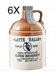 (3 BOTTLES) McCormick Distilling - Platte Valley Whiskey - 100% Straight Corn Whisky - 70cl