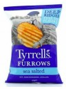 """Tyrrels - Chips """"Rustiche"""" Furrows Sea Salted -150g"""